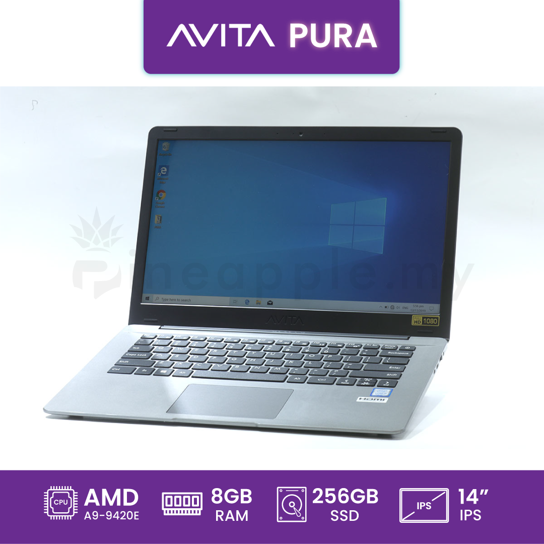 "AVITA Pura AMD A9 14"" Laptop (NS14A6MYD-541) (Grey)"