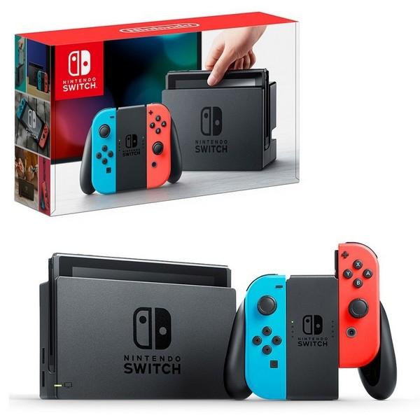 Nintendo Switch Neon Console (1 Year Warranty) - MaxSoft Set