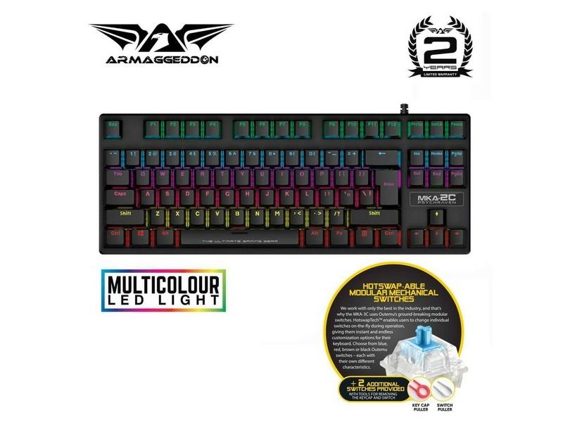ARMAGGEDDON MKA-2C Mechanical Blue Switch Gaming Keyboard